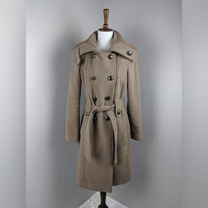 Calvin Klein Tan Wool Winter Jacket Size 8